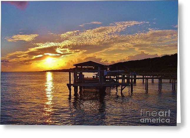 Sunset At Morehead City Nc Greeting Card