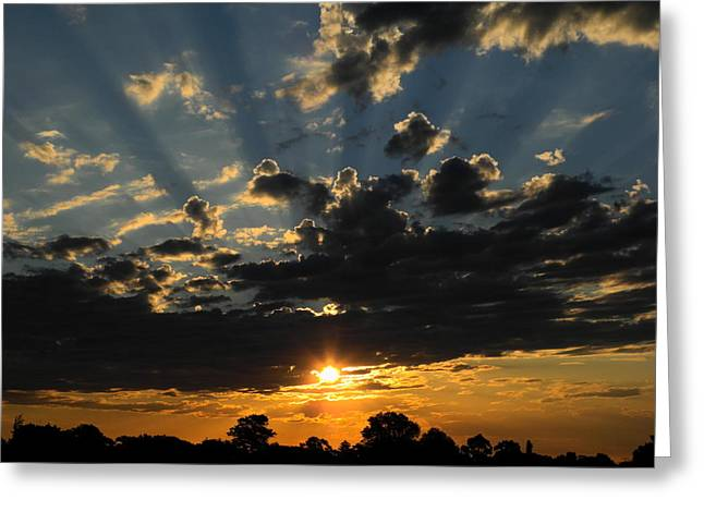 Dark Sunset Greeting Card by Mark Blauhoefer