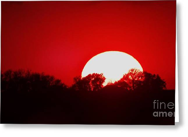 Sunset May Greeting Card by J L Zarek