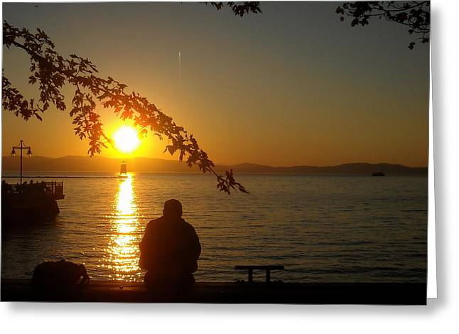 Sunset Meditation Greeting Card