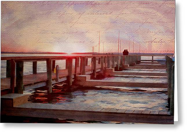 Sunset Memories From Chincoteague Greeting Card by Julia Springer