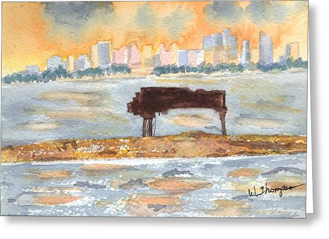 Sunset Miami Piano Bar  Greeting Card