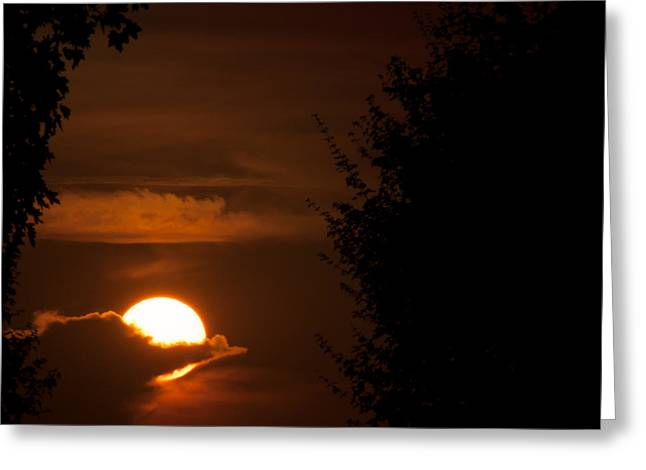 Sunset Greeting Card by Miguel Winterpacht