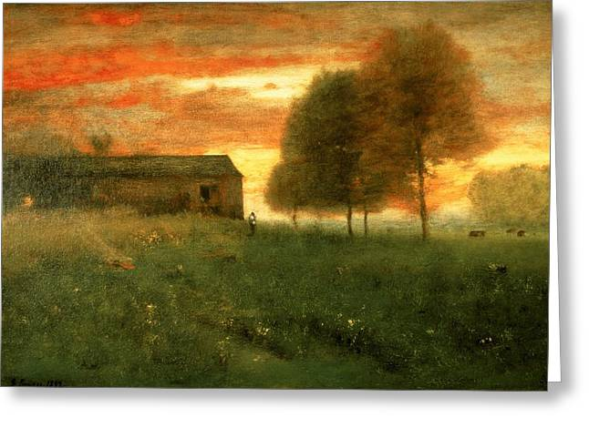 Sunset, Montclair, 1892 Greeting Card