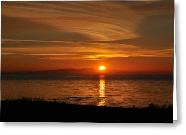 Sunset Mood Greeting Card by Sabine Edrissi