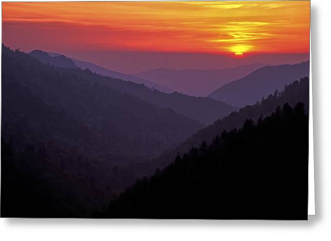 Sunset Morton Overlook Greeting Card