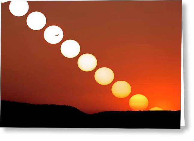 Sunset Multiple Exposure Greeting Card by Dr Juerg Alean
