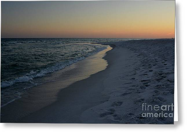 Sunset Navarre Beach Greeting Card by Janice Spivey