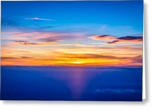 Sunset Greeting Card by Neah Falco