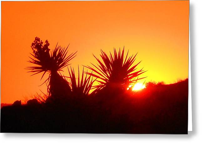 Sunset Near Castle Rock Greeting Card