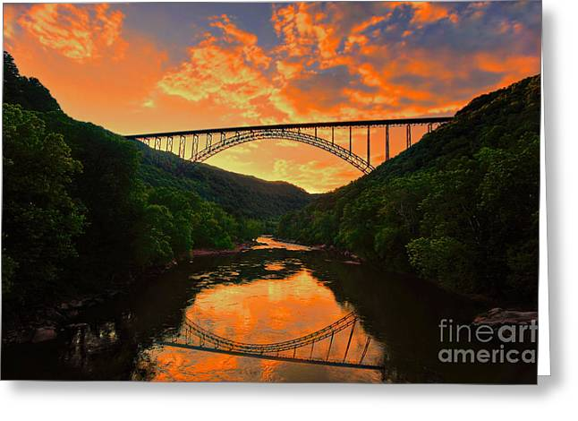 Sunset New River Gorge Greeting Card