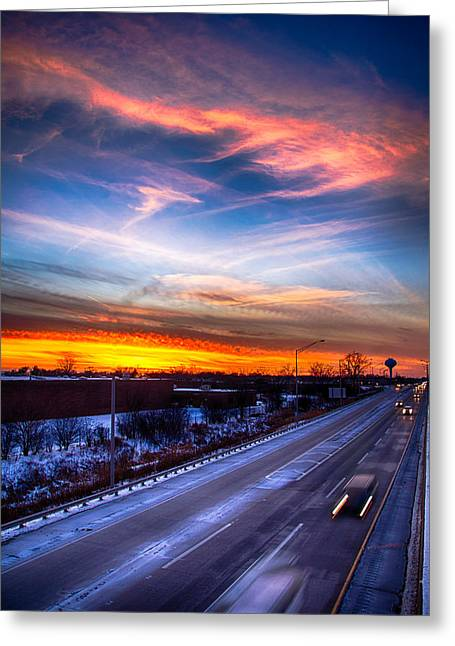 Sunset North Of Chicago 12-12-13 Greeting Card