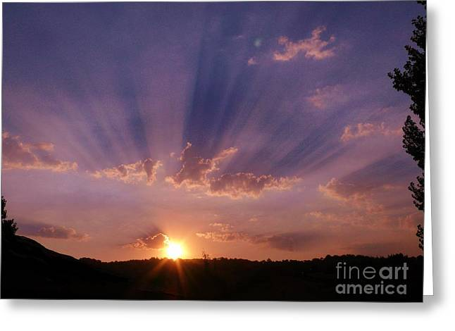 Sunset Of Dreams Greeting Card by Jacquelyn Roberts