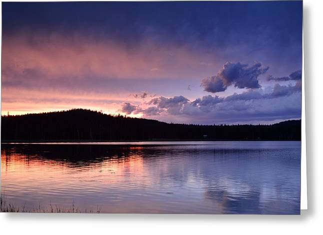Sunset Of Fire And Ice Greeting Card by Rich Rauenzahn