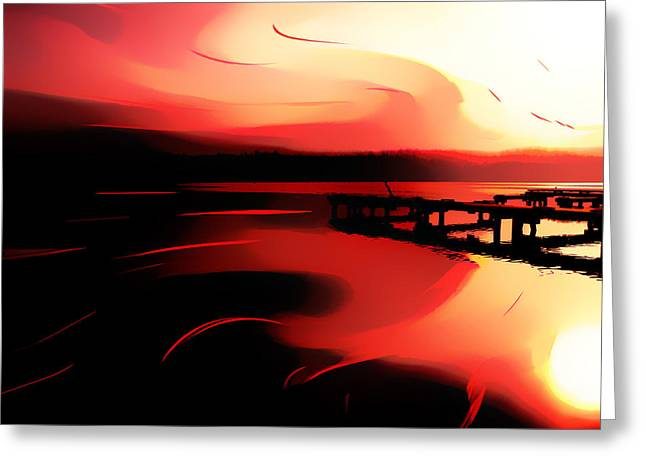 Sunset Of Fire Greeting Card