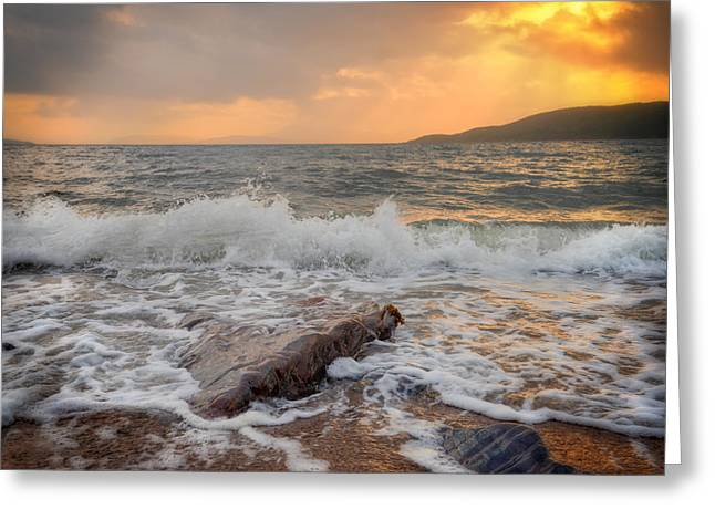 Sunset Of Firth Of Lorn Greeting Card