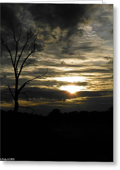 Sunset Of Life Greeting Card