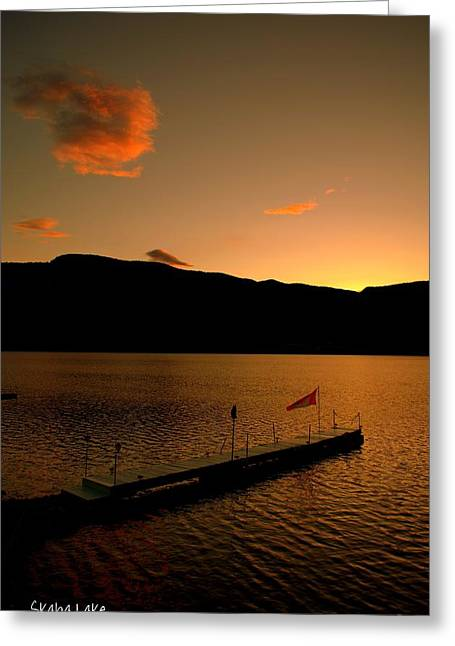Sunset - Okanagan Valley 3/21/2014  Greeting Card