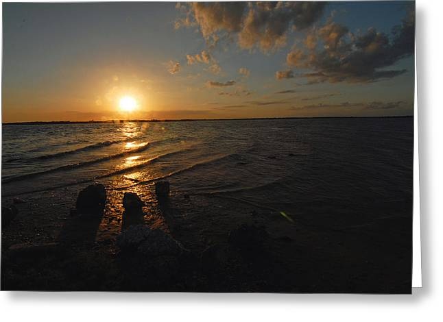 Greeting Card featuring the photograph Sunset Olivia Texas by Susan D Moody