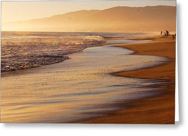 Sunset On A Beach Greeting Card