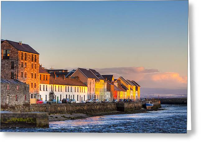 Greeting Card featuring the photograph Sunset On A Beautiful Winter Day In Galway Ireland by Mark E Tisdale