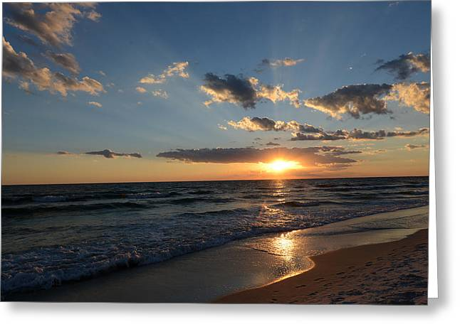 Sunset On Alys Beach Greeting Card