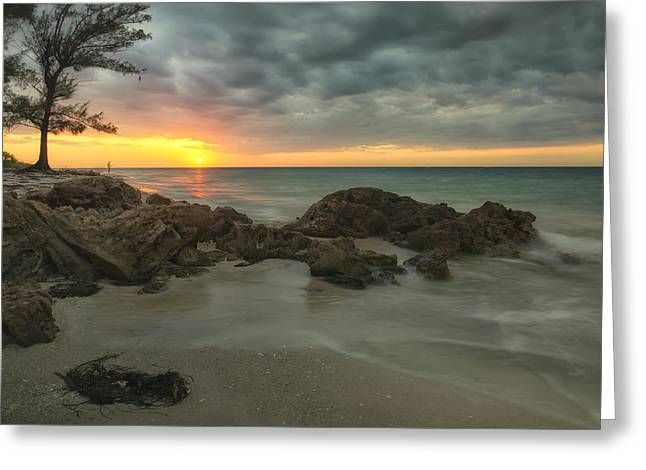 Sunset On Bean Point Greeting Card