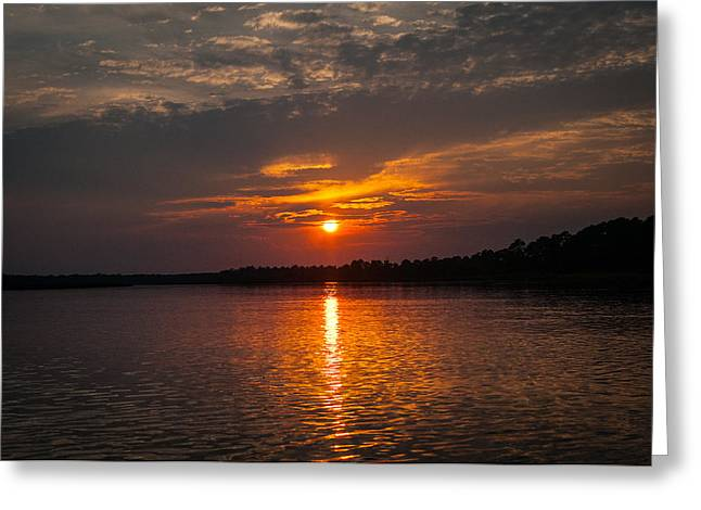 Sunset On Bowers Creek Greeting Card by Scott Hansen
