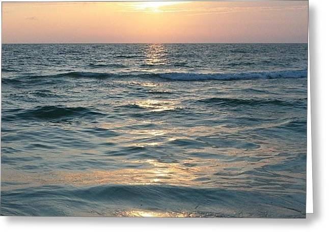 Sunset On #clearwater #beach #florida Greeting Card