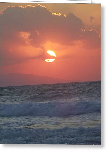 Sunset On Crete Greeting Card