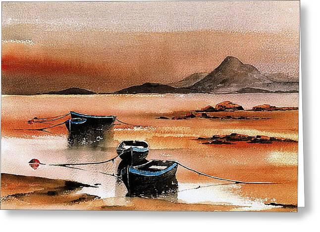Sunset On Croagh Patrick   Mayo Greeting Card