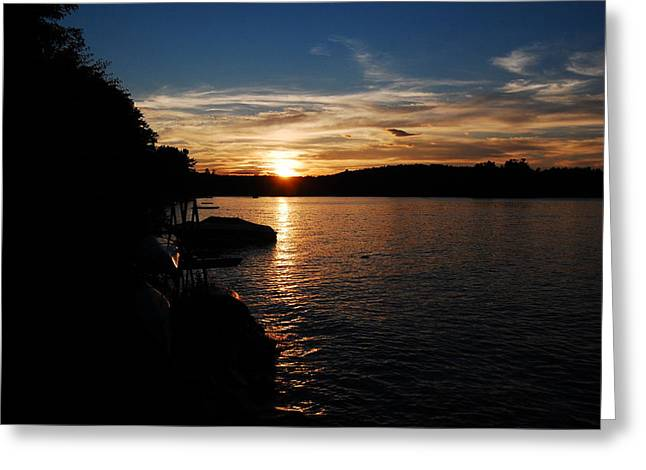 Greeting Card featuring the photograph Sunset On Halfmoon by Mim White
