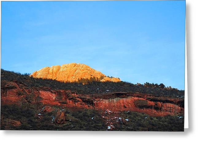 Sunset On Horsetooth Mountain Greeting Card by Ric Soulen