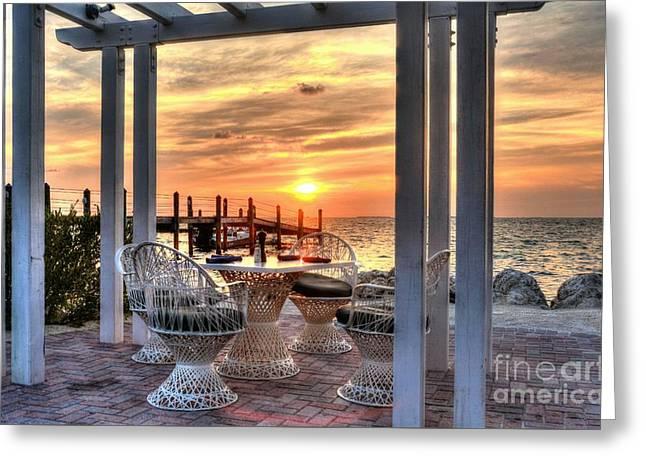 Sunset On Islamorada 3 Greeting Card by Mel Steinhauer