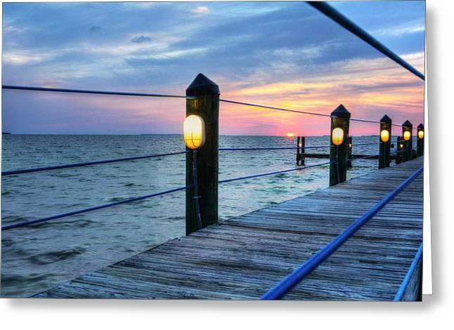 Sunset On Islamorada Greeting Card by Mel Steinhauer