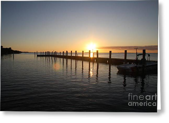 Sunset On Key Largo Greeting Card by Christiane Schulze Art And Photography