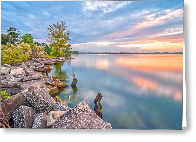 Sunset On Lake Moultrie Greeting Card by Donnie Smith