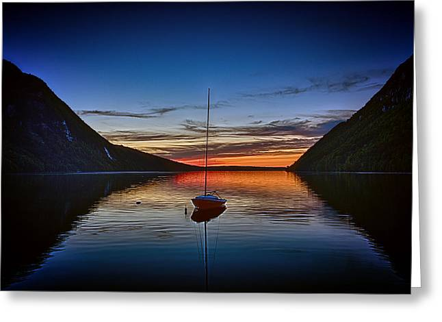 Sunset On Lake Willoughby Greeting Card