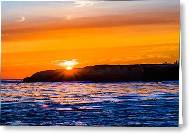 Sunset On Lighthouse Point Greeting Card by Tommy Farnsworth