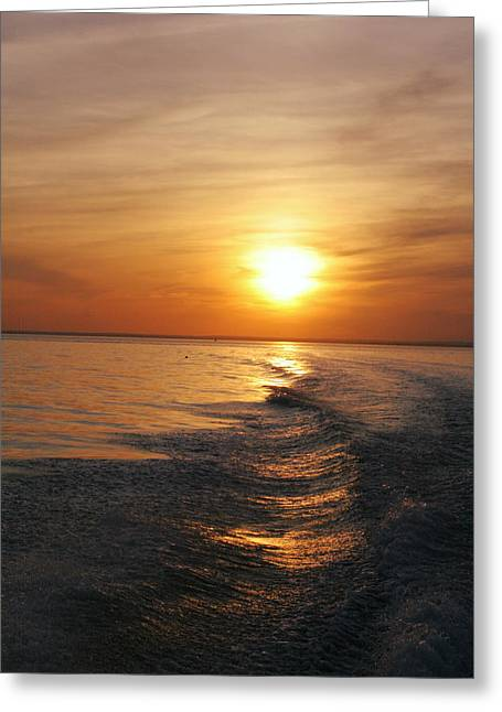 Greeting Card featuring the photograph Sunset On Long Island Sound by Karen Silvestri