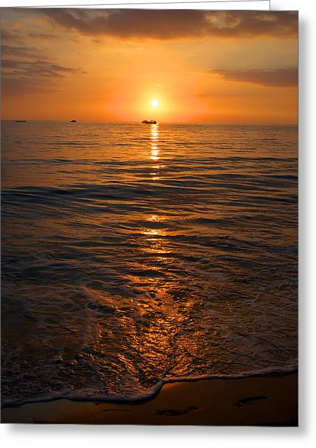 Sunset On Ma'alaea Bay Greeting Card