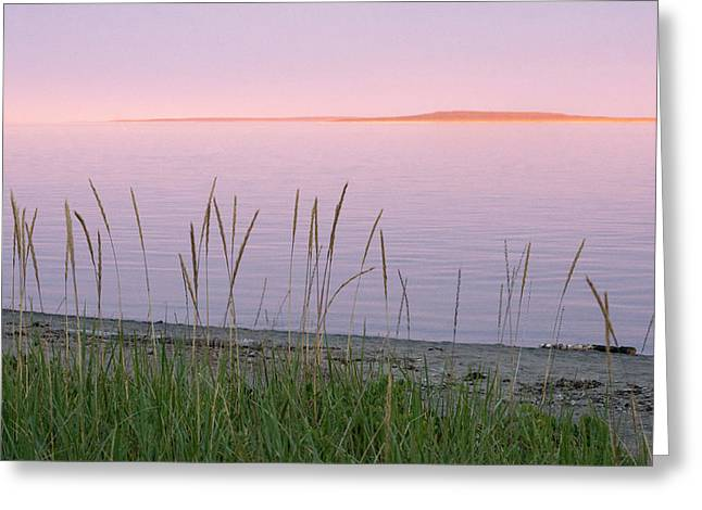 Greeting Card featuring the photograph Sunset On Mingan Islands by Arkady Kunysz