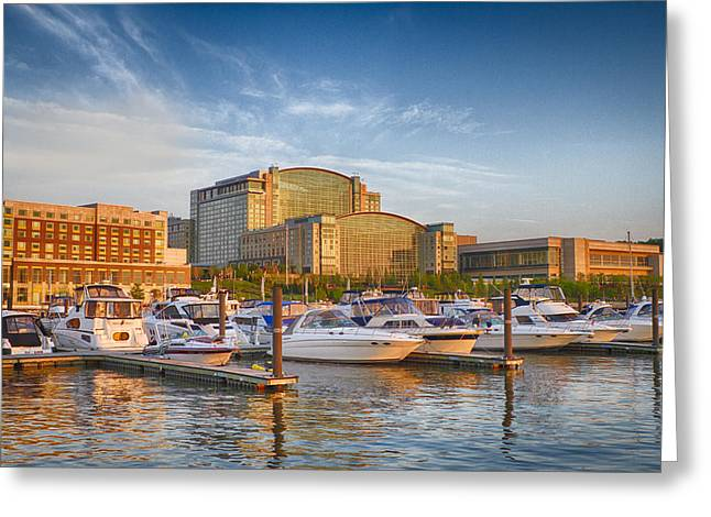 Sunset On National Harbor Greeting Card