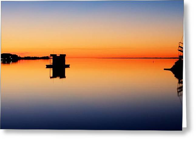 Sunset On Navarre Beach Greeting Card by JC Findley
