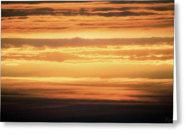 Sunset On Newquay Bay Greeting Card