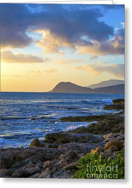 Sunset On Oahu Hawaii Greeting Card