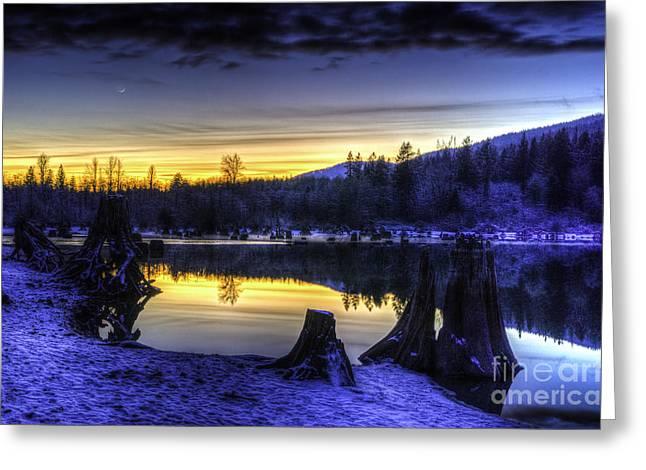 Sunset On Rattlesnake Lake Greeting Card by Brian Xavier