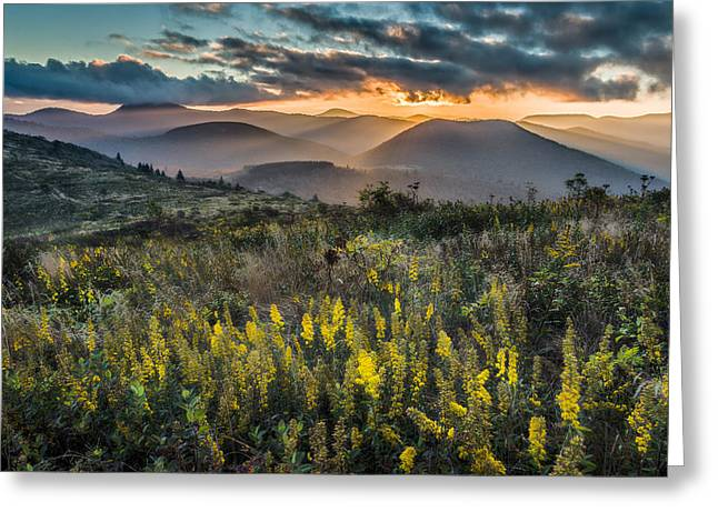 Sunset On Sam Knob Greeting Card