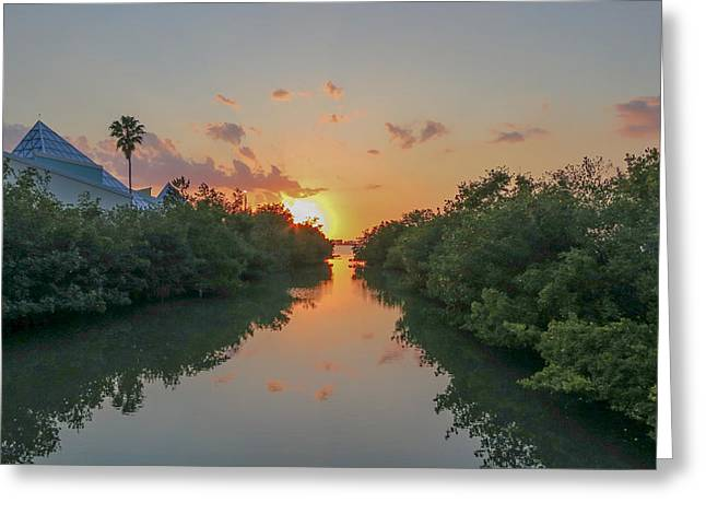 Sunset On Sarasota Bay Greeting Card