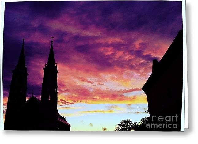 Sunset On The Basilica  Greeting Card by Garren Zanker